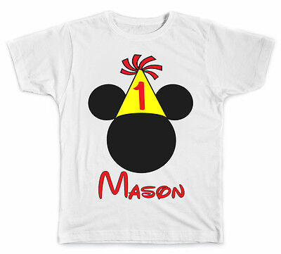 Personalized Mickey Ears Birthday Style 2 T-Shirt
