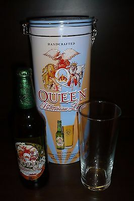 QUEEN-Bohemian Pilsner Lager-LTD EDITION-Glass/Tin/Bottle-Freddie Mercury-Rock
