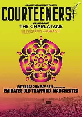 Courteeners 2017 Old Trafford Tour Photo Print Poster