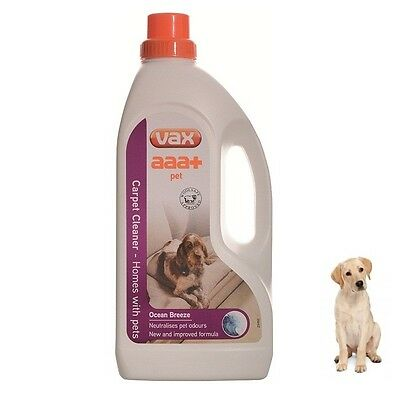 Vax AAA+ Pet Carpet Care Shampoo Cleaning Solution 1.5 Litre Cleaner Liquid Wash