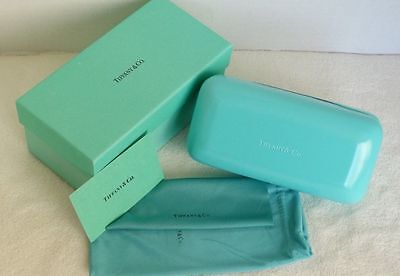 Brand New Tiffany sunglasses case+cleaning cloth+booklet+gift box