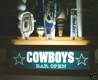 Led lighted COWBOYS 7 beer tap handle kegerator display - 2 direction lighting