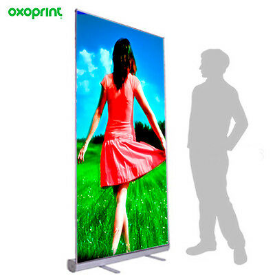 "Retractable Roll Up Banner Stand 39x79"" Trade Show Displays(Free Print included)"