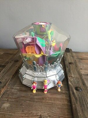 Vintage 2001 Polly Pocket Diamond Wonderland Playset With Matching Figures