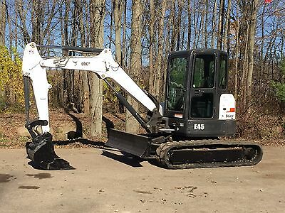 2013 Bobcat E45 Excavator With Low Hours & A/C Cab