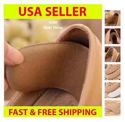 LOT 1-10 Pairs Fabric Shoe Pads Cushion Liner Grip Back Heel Inserts Insoles