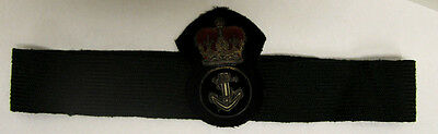 Royal Canadian Navy (?) Crown & Anchor Patch/Badge/Insignia on Hat Band