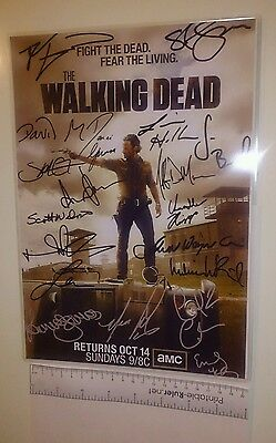 The Walking Dead [PRISON] Cast Signed x 19 (Inc. Negan actor) PP POSTER PHOTO