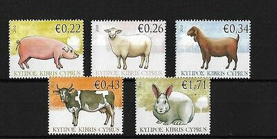 Cyprus 2010 Farm Animals, Mnh, Sg1212/6