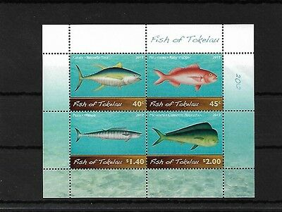 Tokelau 2012 Fish Minisheet, Mnh, Sgms445