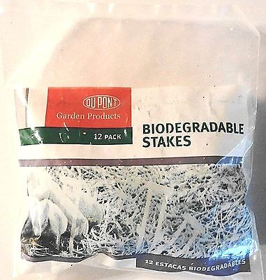 Dupont BIODEGRADABLE Lawn seed blanket/Garden/Plant STAKES 12 Pack