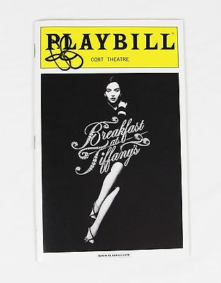 Emilia Clark Gorgeous Breakfast at Tiffany's Broadway Playbill Signed Autograph