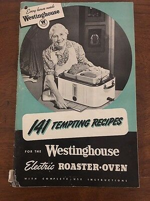Vintage WESTINGHOUSE RS-1003 Roaster Oven Instruction Manual Recipes