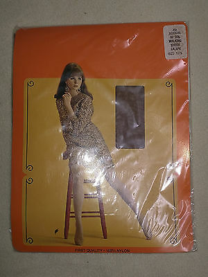 Walking Sheer Vintage RHT Stockings Taupe Brown 10,5 30 Denier Old Stock New