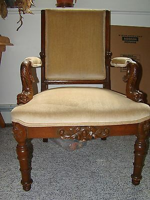 Antique/Vintage Chair with Fish Arms