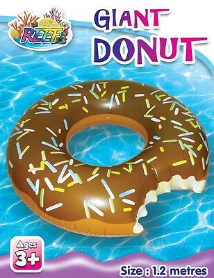 Reef Inflatable Donut Chocolate Pool Water Toy GIANT 1.2m Swim Ring