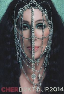 Cher 2014 D2K Tour Concert Program Book / Near Mint 2 Mint
