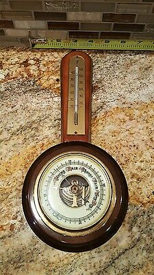 """Vintage Weather Station Barometer thermometer Made in Germany 11.5"""""""
