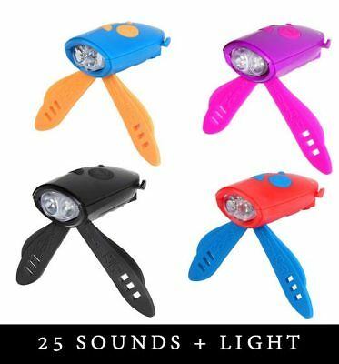 Hornit Mini Horn and Light for Bicycle Scooter *25 SOUNDS * Multiple Colours