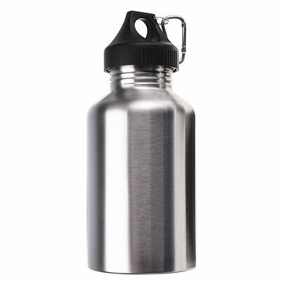 2000ML Stainless Steel Drinking Water Bottle Cycling Camping Hiking Silver L3