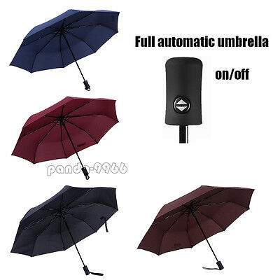 Full Automatic Umbrella Anti-UV Sun/Rain Windproof 3 Folding Compact Umbrella