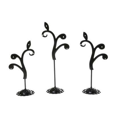 Tree Metal Earring Stud Jewelry Holder Organizer Display Stand Ring Tray