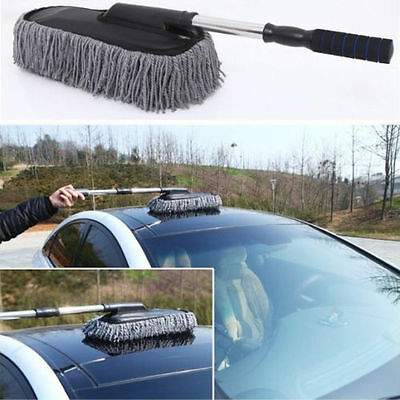 Large Telescoping Microfiber Cleaning Wash Washing Brush Duster Tool Auto Car
