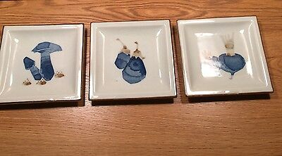 Otagiri OMC JAPAN Set of 3 Vintage Square Plates