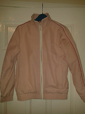 Girls Long Sleeved Jacket - Fred Perry - Sportswear - Pink & White - YS