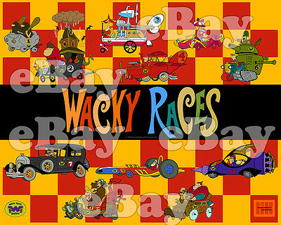 EXTRA LARGE! WACKY RACES Poster Print HANNA BARBERA Dastardly & Muttley