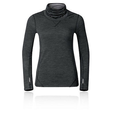 Odlo Revolution Womens Black Turtle Neck Long Sleeve Running Sports Top