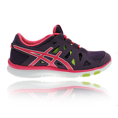 ASICS Gel-Fit Tempo Womens Purple Cushioned Training Sports Shoes Trainers