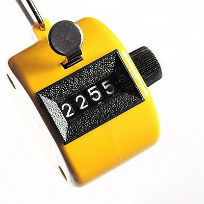Tally Clicker Counter 4 Digit Number Clicker Golf Digital Chrome Hand held 1pc
