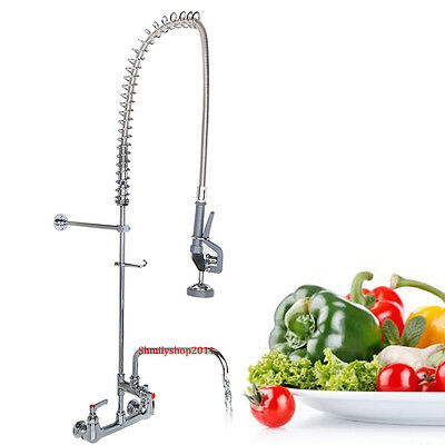 """Commercial Kitchen Heavy Duty Pre-Rinse Faucet with 12"""" Add-On Faucet"""