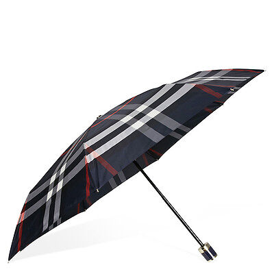 Burberry Check Folding Umbrella - Navy