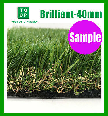 Sample ONLY!!!  Brilliant 40mm 6 Tone Synthetic Turf Artificial grass Fake grass