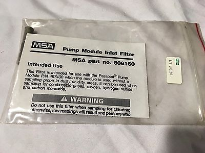 MSA 806160 Pump Module Inlet Filter