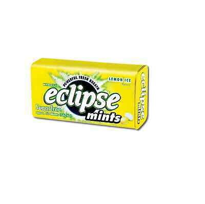 Eclipse Sugarfree Mints Lemon Ice 1.2 Ounce Tins (Pack of 8)