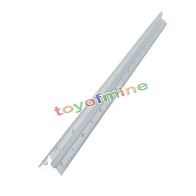 "New 300mm 12"" Aluminium Scale Ruler Rule Engineers Architects Technical Drawing"