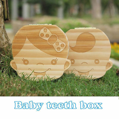 Personalised Wooden Baby Tooth Fairy Box Boy/Girl Box Saver Box Storage Meaning