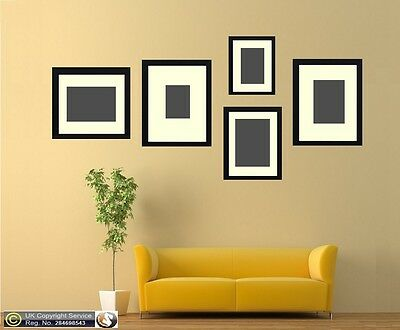 5 Piece Multi Picture Photo Frame With Ivory Mount Collage Wall Hanging Frame