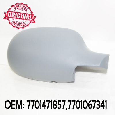 Right Side Wing Mirror Cover Cap Casing Primed For Renault Clio 2001 - 2005