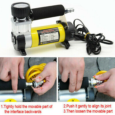 Electric 12V 100PSI Auto Tire Tyre Inflator Tool Car Wheel Air Pump Compressor