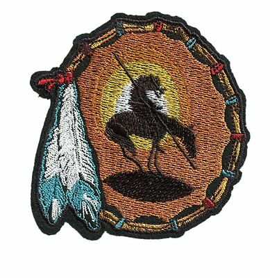 Embroidered Badge Dreamcatcher Feather Indian Tribal Patch Badge 9cm