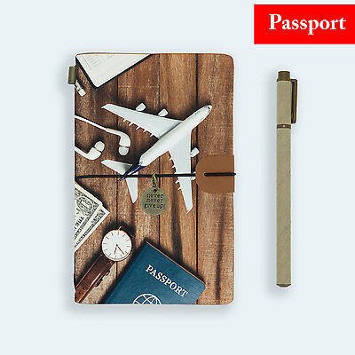 Genuine Leather Journal Travel Diary Travelers Passport Size Travel Around World