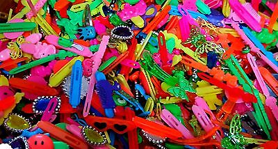 100 pcs GIRL hair clip mix-C PARTY LOOT BAG PINATA TOYS FILLERS LUCKY favors