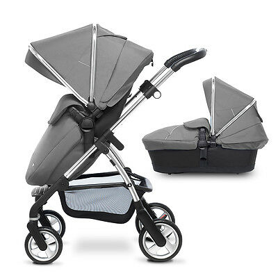 Silver Silver Cross Wayfarer Pushchair Carry Cot Hood & Apron Reduced