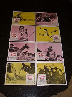 THE 7TH VOYAGE OF SINBAD, R-1979, Lobby Cards (8), C8.5 Very Fine to Near Mint
