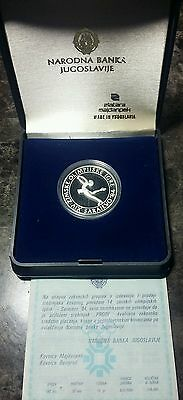 1984 Yugoslavia Sterling Silver Proof 100 Dinars Coin - Sarajevo Olympic Games