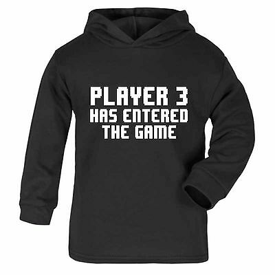 Baby Player 3 Has Entered The Game Hoodie -Xmas Gift Cute Baby Newborn Girl Boy